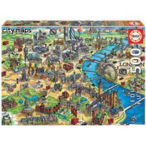 Puzzle 500 mapa de londres city maps
