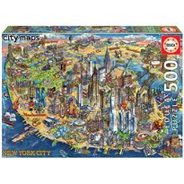 Puzzle 500 mapa de nueva york city maps