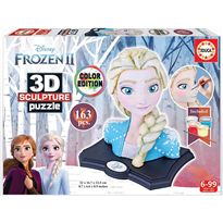 Color sculpture puzzle 3d frozen - 04018374
