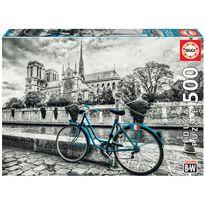 "Puzzle 500 bicicleta cerca de notre dame ""coloured - 04018482"
