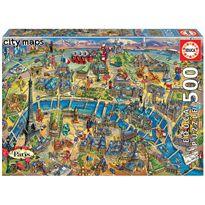 """Puzzle 500 mapa de parís """"city maps"""""""