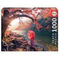 Puzzle 1000 amanecer en el río katsura, japón