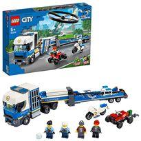 Policía: camión de transporte del helicóptero lego - 22560244
