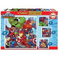 Puzzle progressive super heroe advent - 04018647