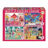 Puzzle multi 4 jr parque+fiesta * - 04018601