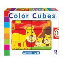 Color cubes 12 animales