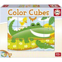 Color cubes 12 animales salvajes - 04015589
