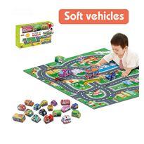 Alfombra y coches de tela - 87811725