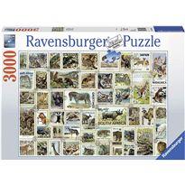 Puzzle 3000 sellos de animales - 26917079