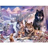 Puzzle 2000 lobos en la nieve - 26916012