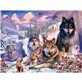 Puzzle 2000 lobos en la nieve