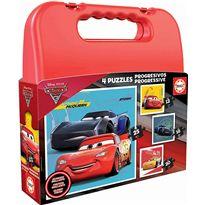Puzzle maleta prog.cars roja - 04017175