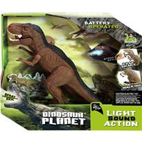 Dinosaurio caminador 30 cm. con luz y sonido - 87815738