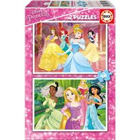 Puzzle 2x48 disney princess