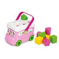 Baby minnie autobus formas y colores