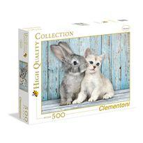 Puzzle 500 gato & conejo