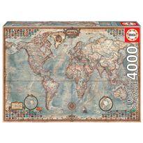 Puzzle 4000 el mundo, mapa politico