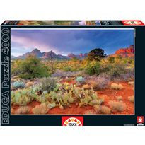 Puzzle 4000 atardecer en red rock, arizona