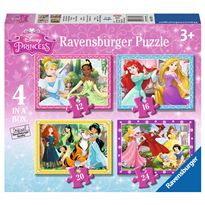 Puzzle progresivo princesas disney 4 en 1 - 26907397