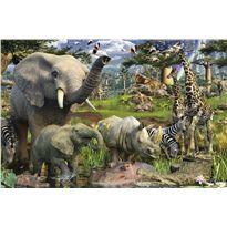 Puzzle 3000 pzs animales en el estanque
