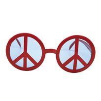 Gafas símbolo de la paz rojas - 55201555