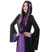 Peluca de bruja negra y morada mujer - 55220382