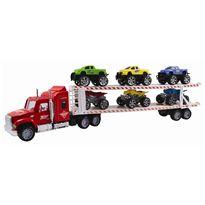 Camión transportador 58 cm c/3 pick ups y 3 quads - 89815842