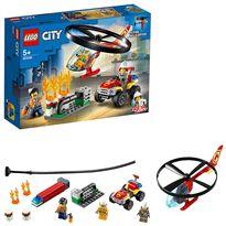 Intervención del helicóptero de bomberos lego city - 22560248