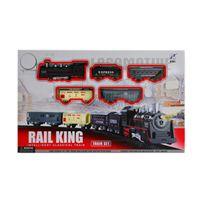 Set tren rail king con luz y musica - 91441048