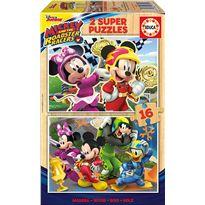 Puzzle 2x16 mickey super pilotos - 04017622